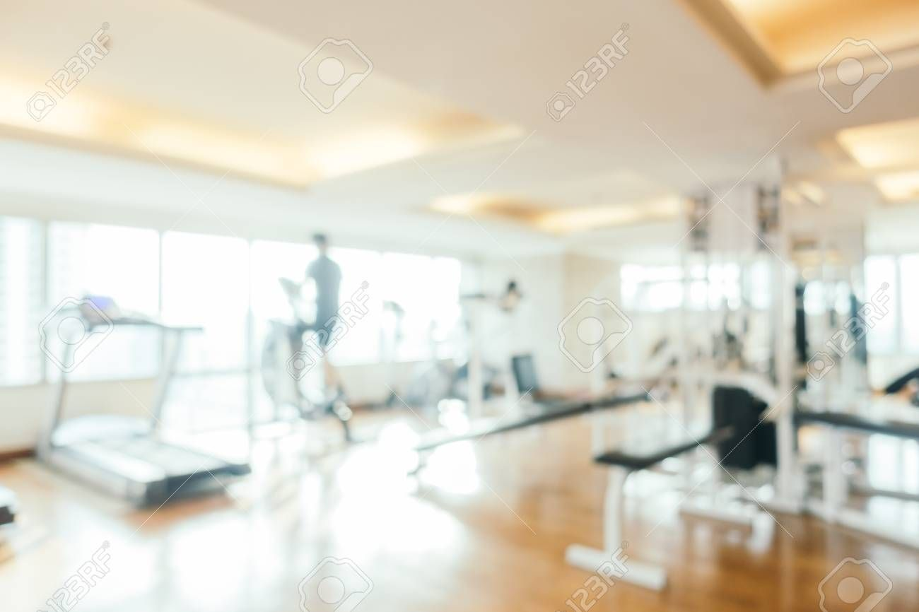 Abstract blur fitness equipment and gym interior for background , #ad, #fitness, #blur, #Abstract, #...
