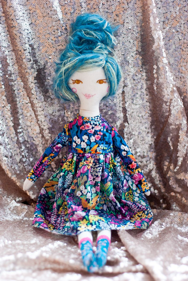 novamelina - Maya from my first patch of dolls i handmade with love :)  #clothdoll #handmade #doll #heirloomdoll #ragdoll #madewithlove #sewing #libertyartfabrics #libertyprints