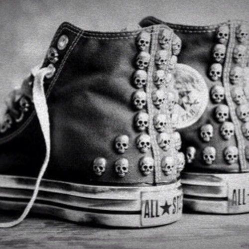 all star converse skulls skull stud studs cool shoes