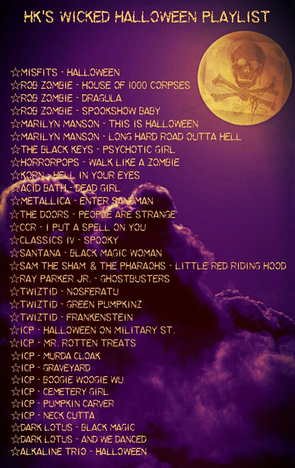 Halloween Playlist 2020 Rock Made my own epic Halloween playlist to get in the spooky spirit