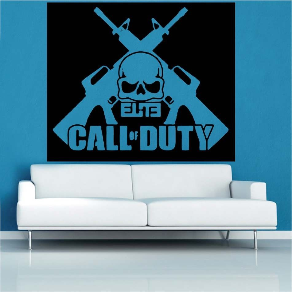 call of duty elite decal vinyl wall sticker ga77 entrance door call of duty elite decal vinyl wall sticker ga77