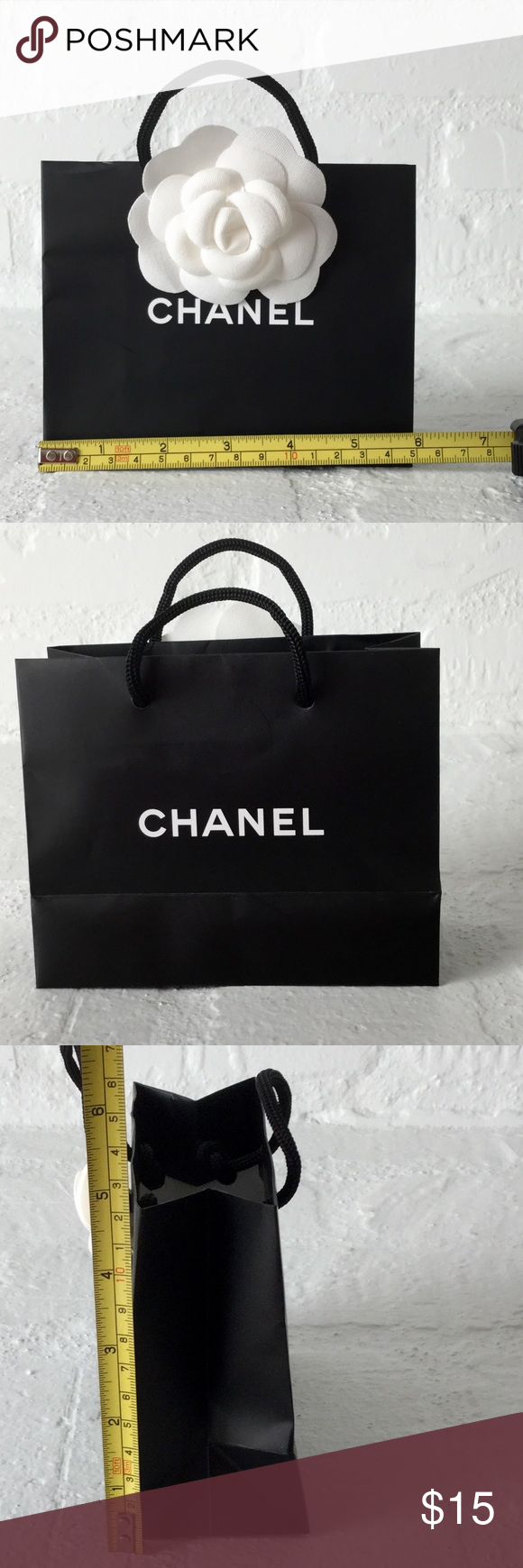 c001b12ab070 Small Chanel Camelia flower shopping/gift bag new Authentic Chanel shopping/gift  bag empty with the Camellia flower. Measures 6