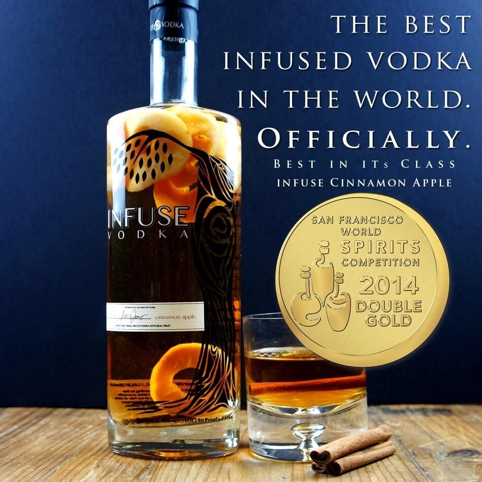 Double Gold & Best Overall Flavored Vodka In The World