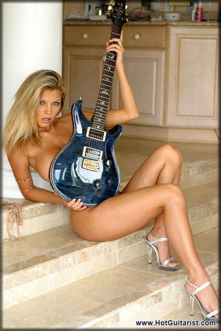 Sexy girls playing guitar