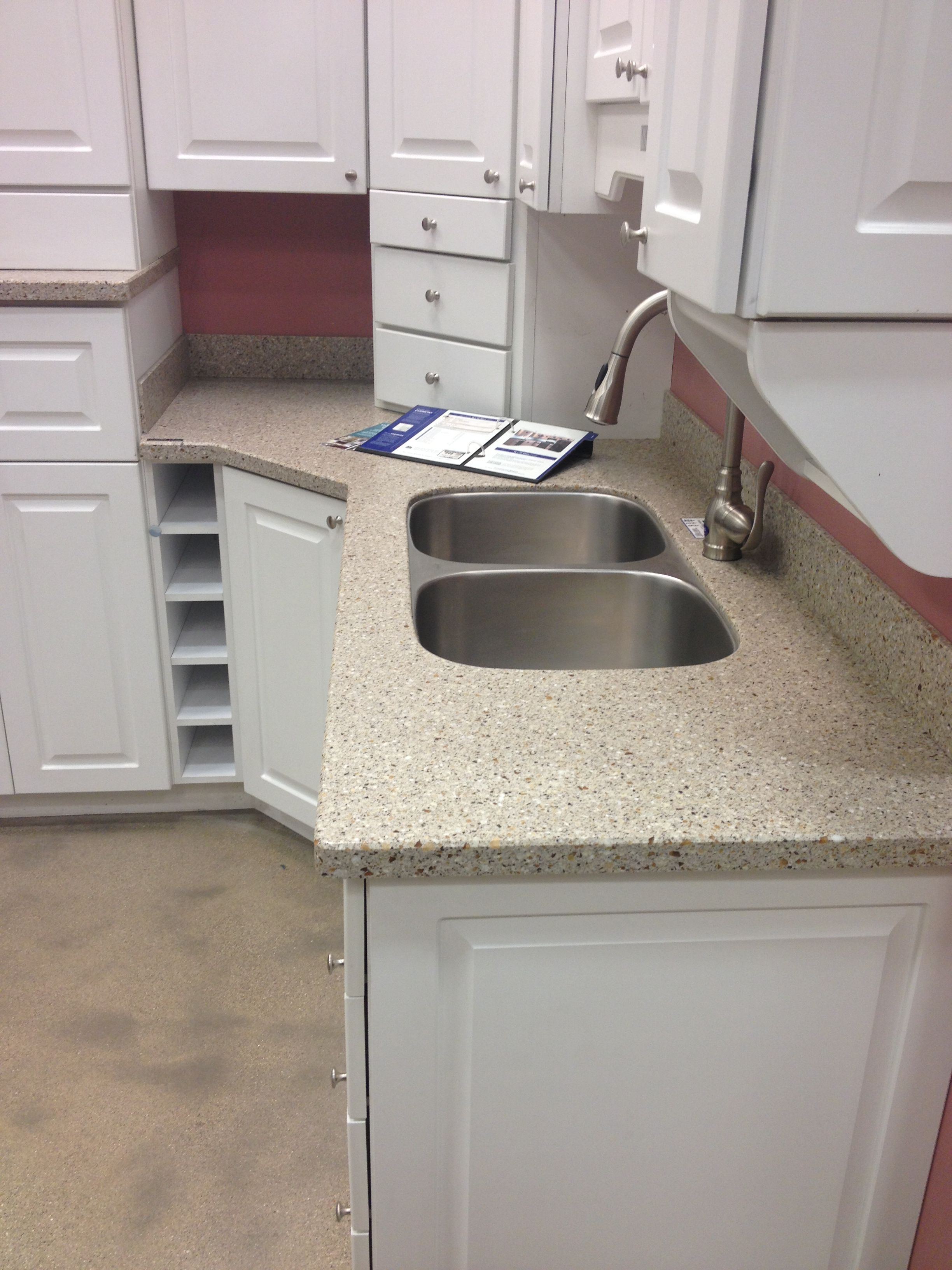 Lg Himacs Countertop Sugarloaf At Lowes Countertops Home Kitchens Sink