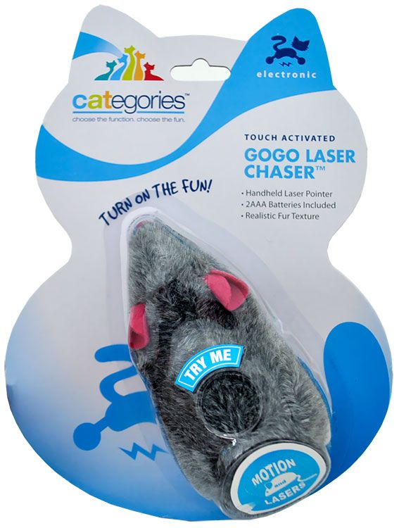 Touch Activated Gogo Laser Chaser 10 99 Cool Cat Toys Online Pet Supplies Interactive Toys