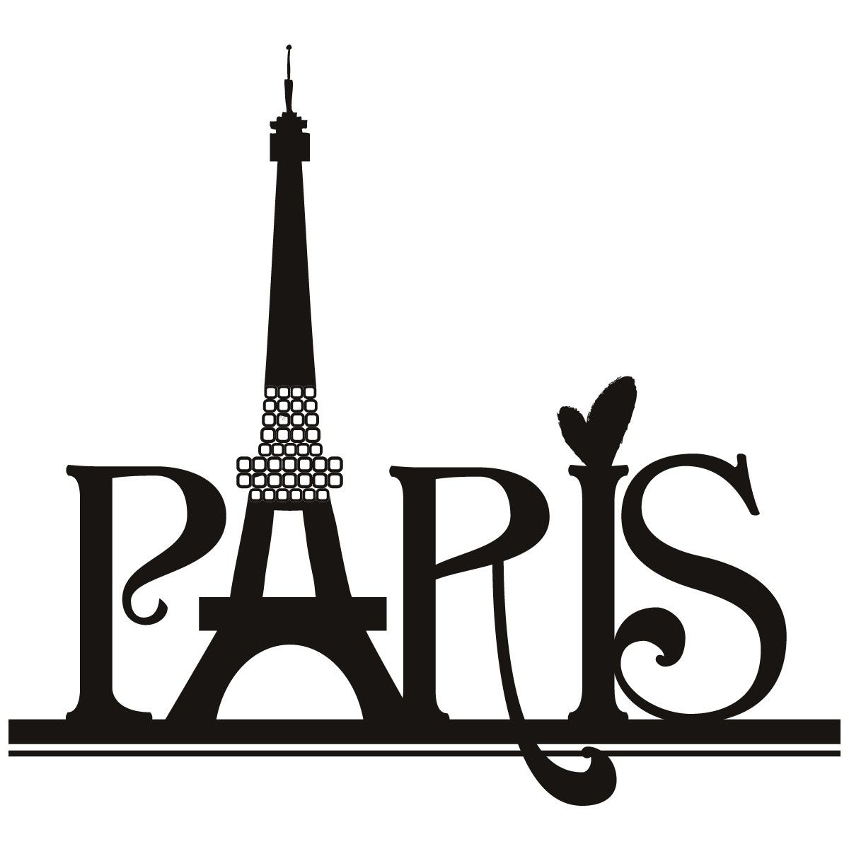 paris eiffel tower wall art sticker 30 jpg 1 200 1 200 pixels rh pinterest com clip art paris theme paris clip art free images
