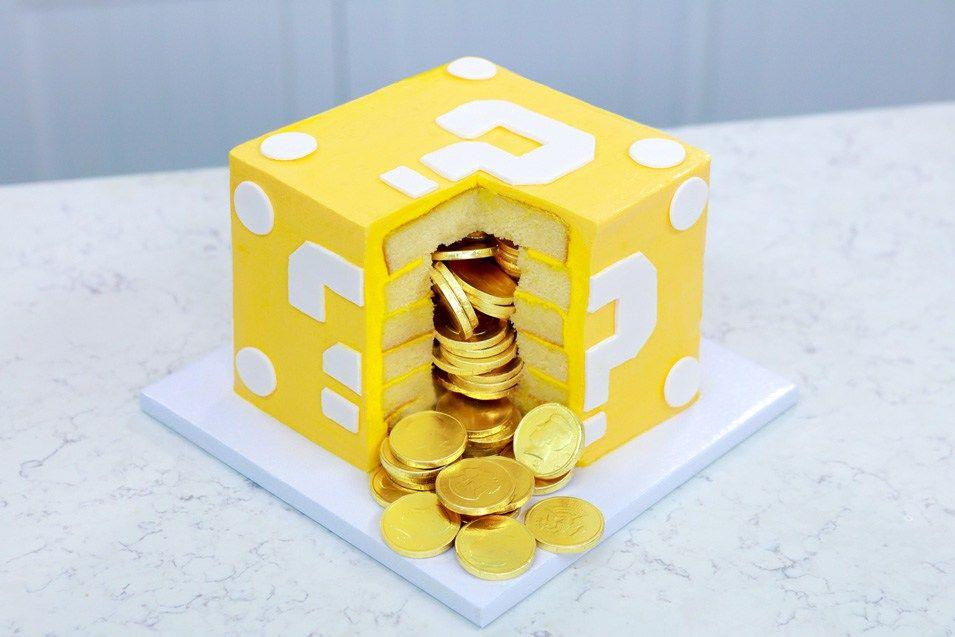 Mario Question Block Surprise Cake Nerdy Nummies