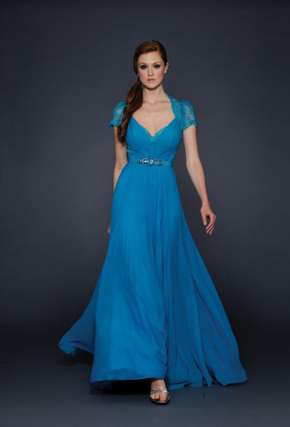Long Lace Bridesmaid Dresses 2014 Fashion Chiffon For Wedding Party ...