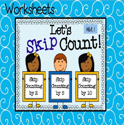 Skip Counting Worksheets | Visual cue, Worksheets and Math