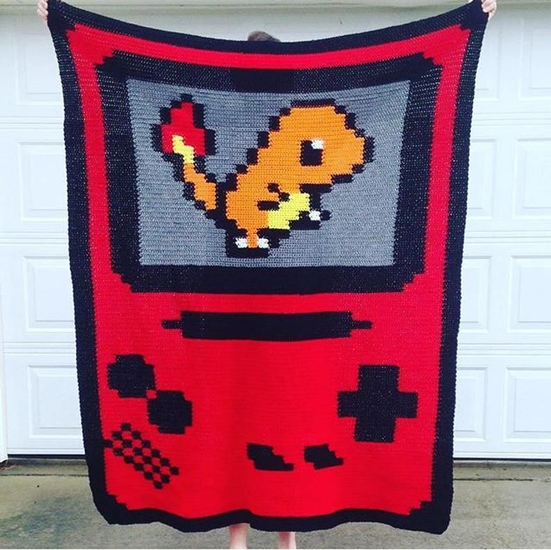 Pokemon Gameboy Blankets made by Haley Banks -