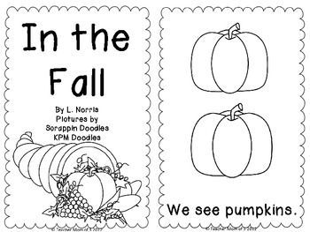 in the fall printable sight word book kindergarten great for unit 1 reading wonders sight - Printable Kindergarten Books