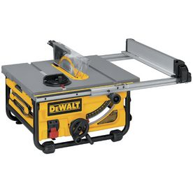 Dewalt 15 Amp 10 Table Saw One Customer Noted 299 Sale Price At Lowes Destined For Garage Storage Vs Jobsite Table Saw Portable Table Saw Best Table Saw