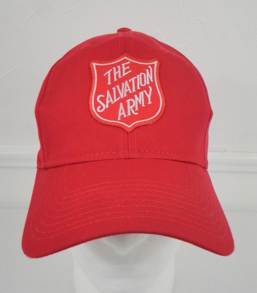 Salvation Army Red Hat Snapback Ball Cap Trucker Otto e Size 6