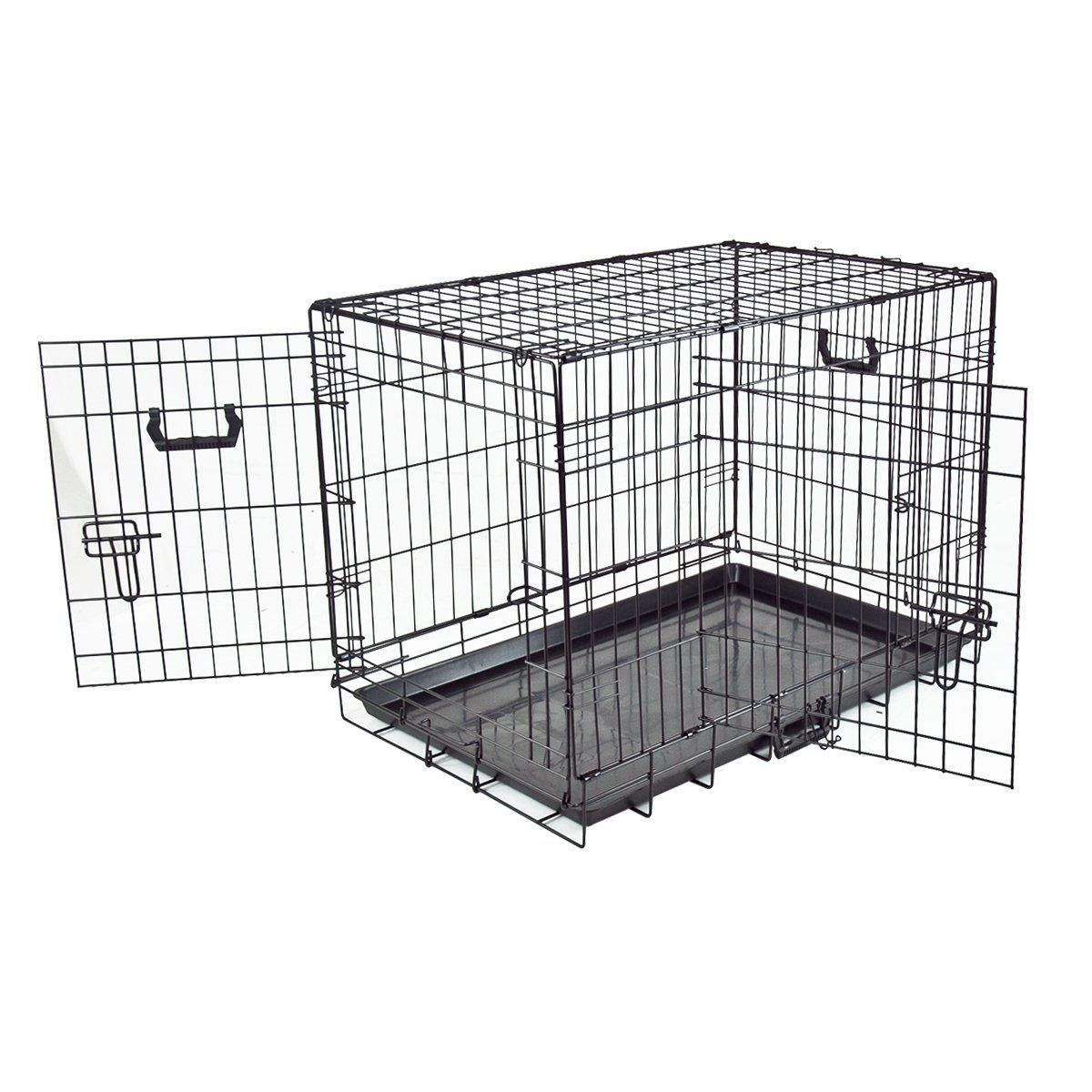 30 Pet Folding Dog Cat 2 Door Crate Cage Kennel 30 X 21 X 24 Details Can Be Found By Clicking On The Image This Is An Aff Cat Carrier Pet Puppy Dog Crate