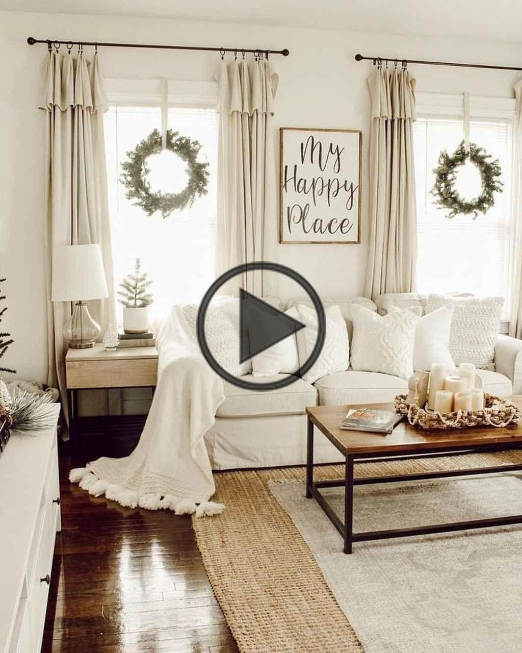 85 Beautiful Farmhouse Living Room Curtains Decor Ideas Curtains Living Room Christmas Decorations Living Room Home Decor