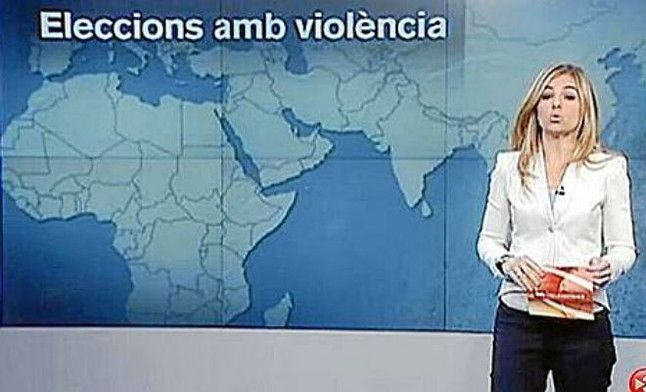 Polémica por un mapa con Catalunya independiente en TV-3