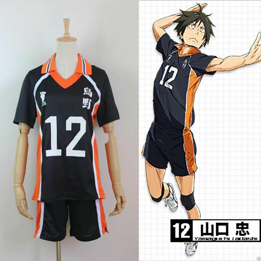 Haikyuu Hot Karasuno High School Uniform Volleyball Jersey Costume Cosplay 1 12 Affiliate High School Karas High School Uniform School Uniform Anime Uniform