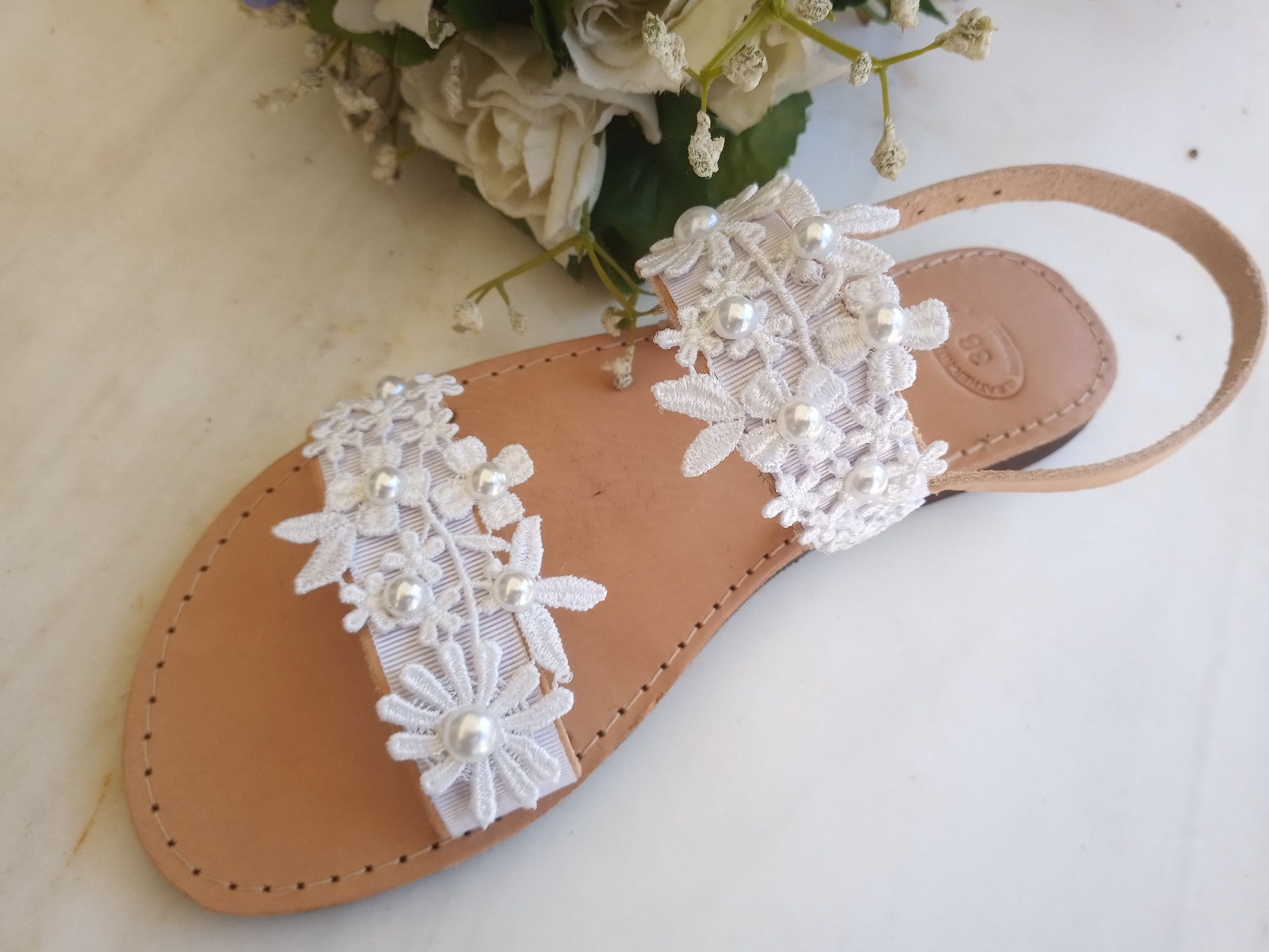 Wedding Sandals For Bride White Bridal Sandals Pearls Etsy In 2020 Wedding Sandals For Bride Bridal Sandals Wedding Sandals