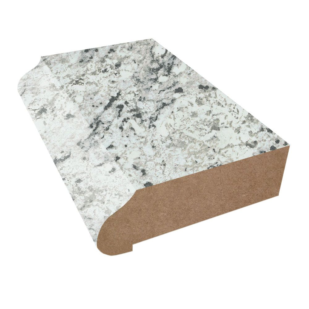 White Ice Granite Formica Laminate Sheets Matte Finish White