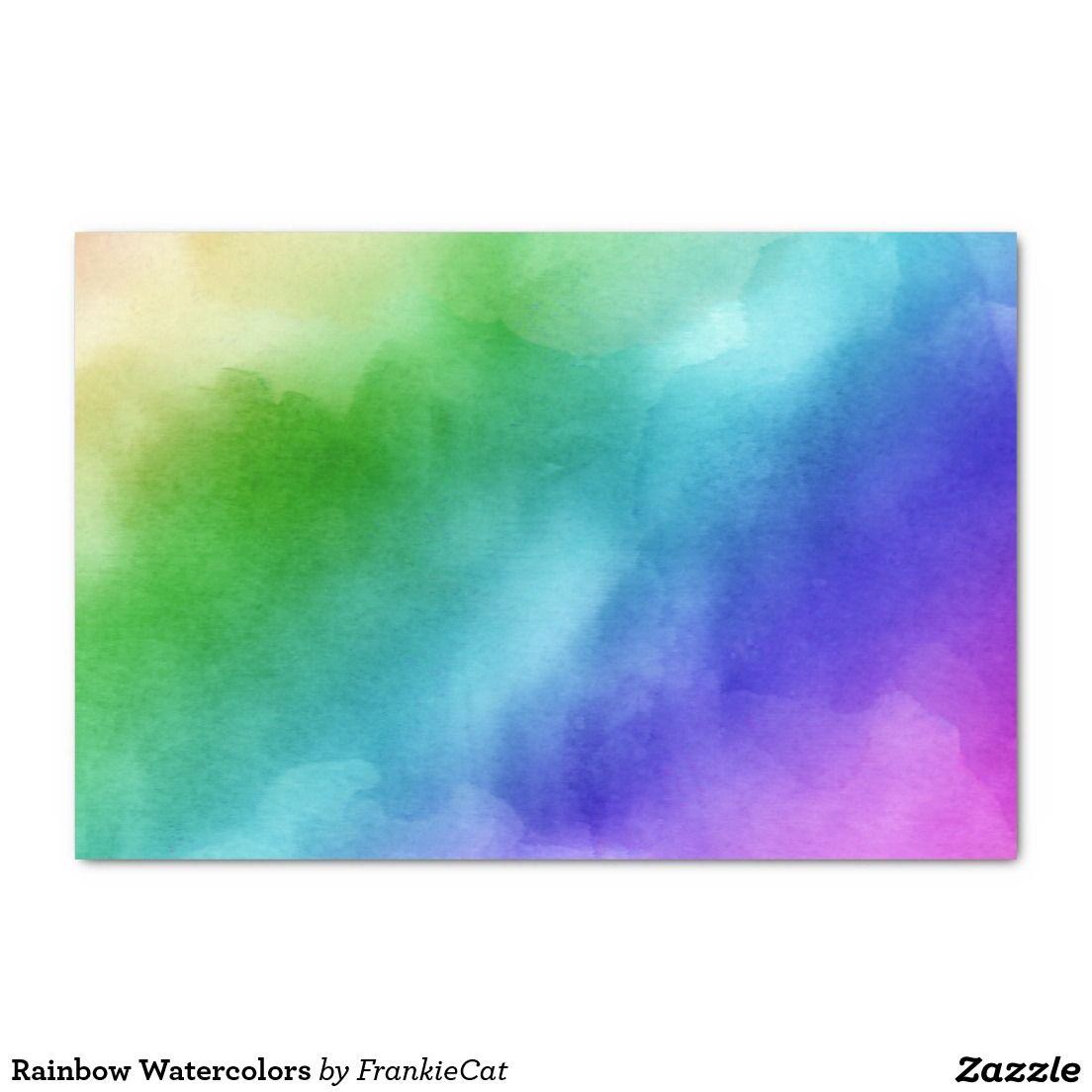 Rainbow Watercolors Tissue Paper Tissue