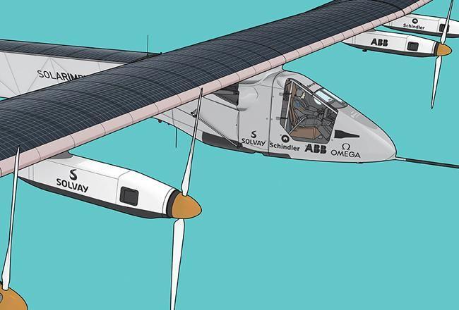 Die Technik des Solarflugzeugs, das heute zum Rekordflug um den Erdball gestartet ist. http://bit.ly/1HnbLVA