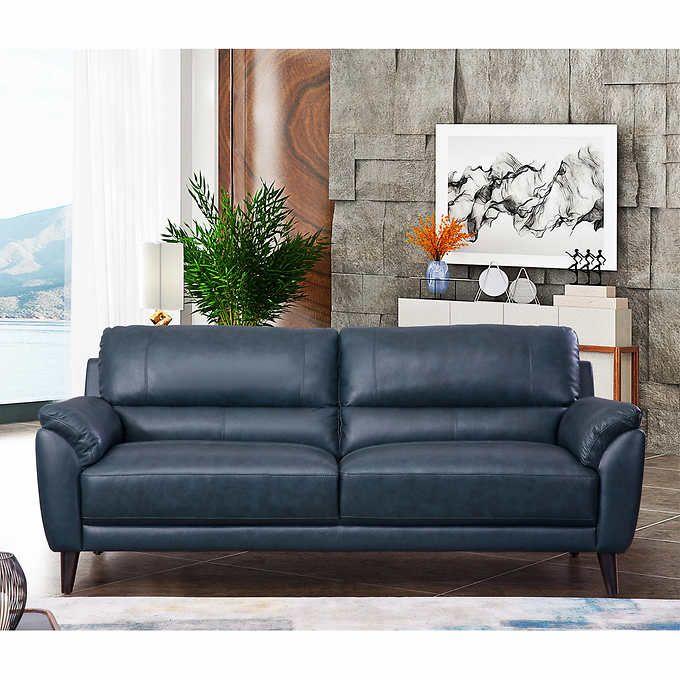 Best Zamora Leather Sofa In 2020 Leather Sofa Navy Blue Sofa Best Leather Sofa 640 x 480