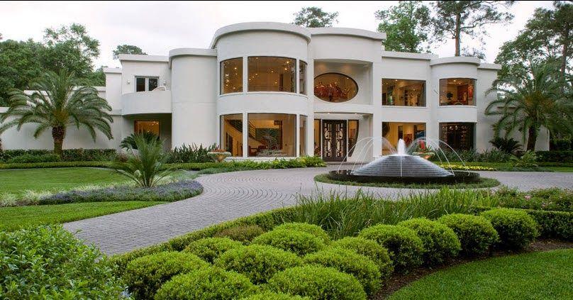 Fachadas de casas de lujo dise o l neas y estilos fotos for Mansiones lujosas modernas