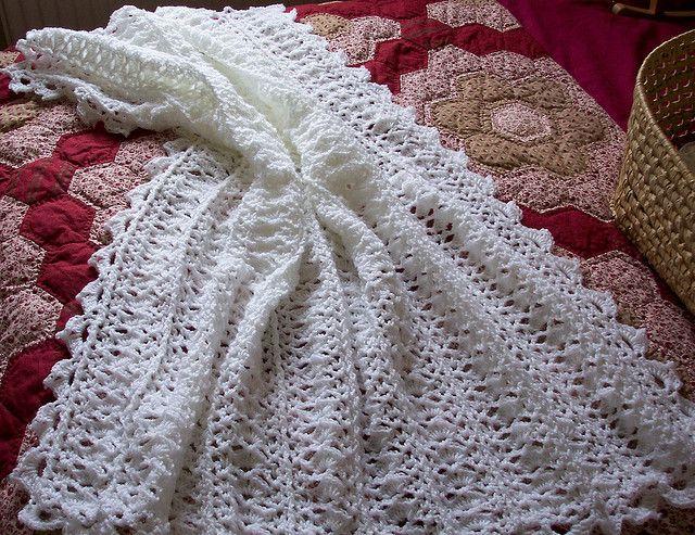 White Crochet Blanket Sold Easy Crochet Blanket Baby