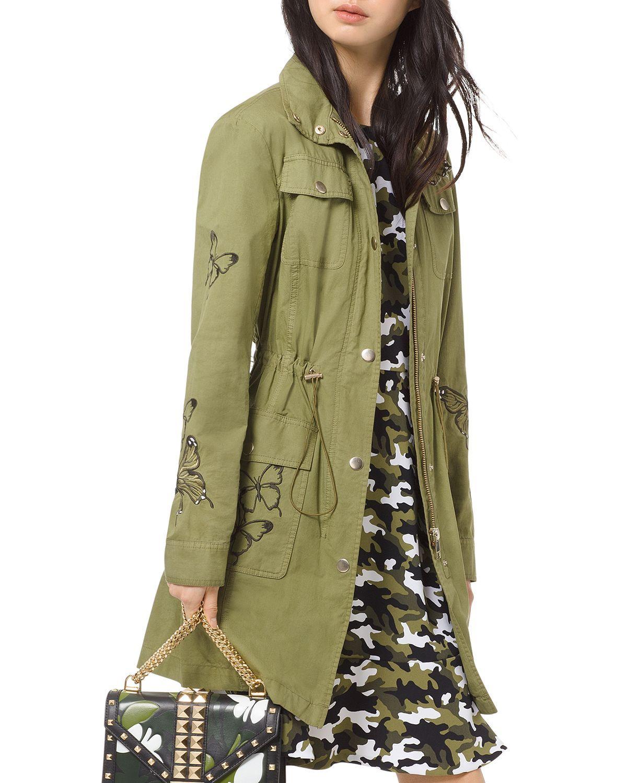 Michael Michael Kors Butterfly Embroidered Cargo Jacket Women Bloomingdale S Cargo Jacket Jackets Michael Kors Jackets [ 1500 x 1200 Pixel ]