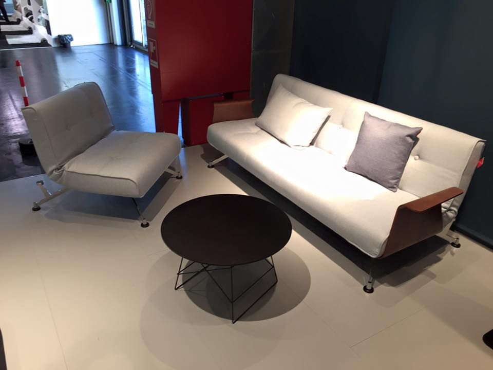 Cute Innovation Living Clubber Sofa Chair and Grid Table at the Imm Cologne