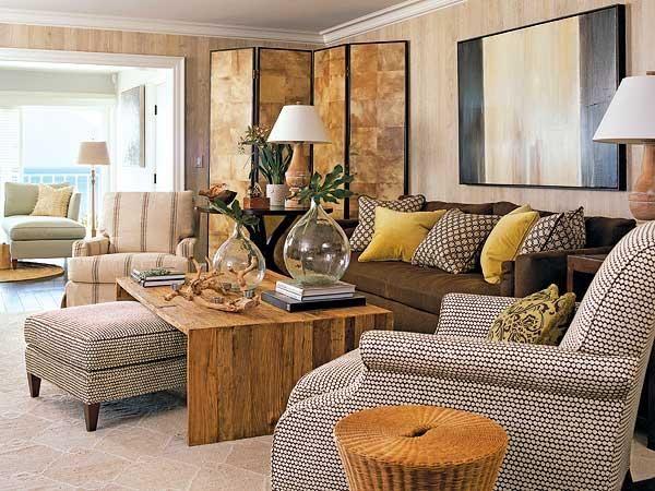 Resultado de imagen de cojines para sofas de tela oscura - Cojines marron chocolate ...