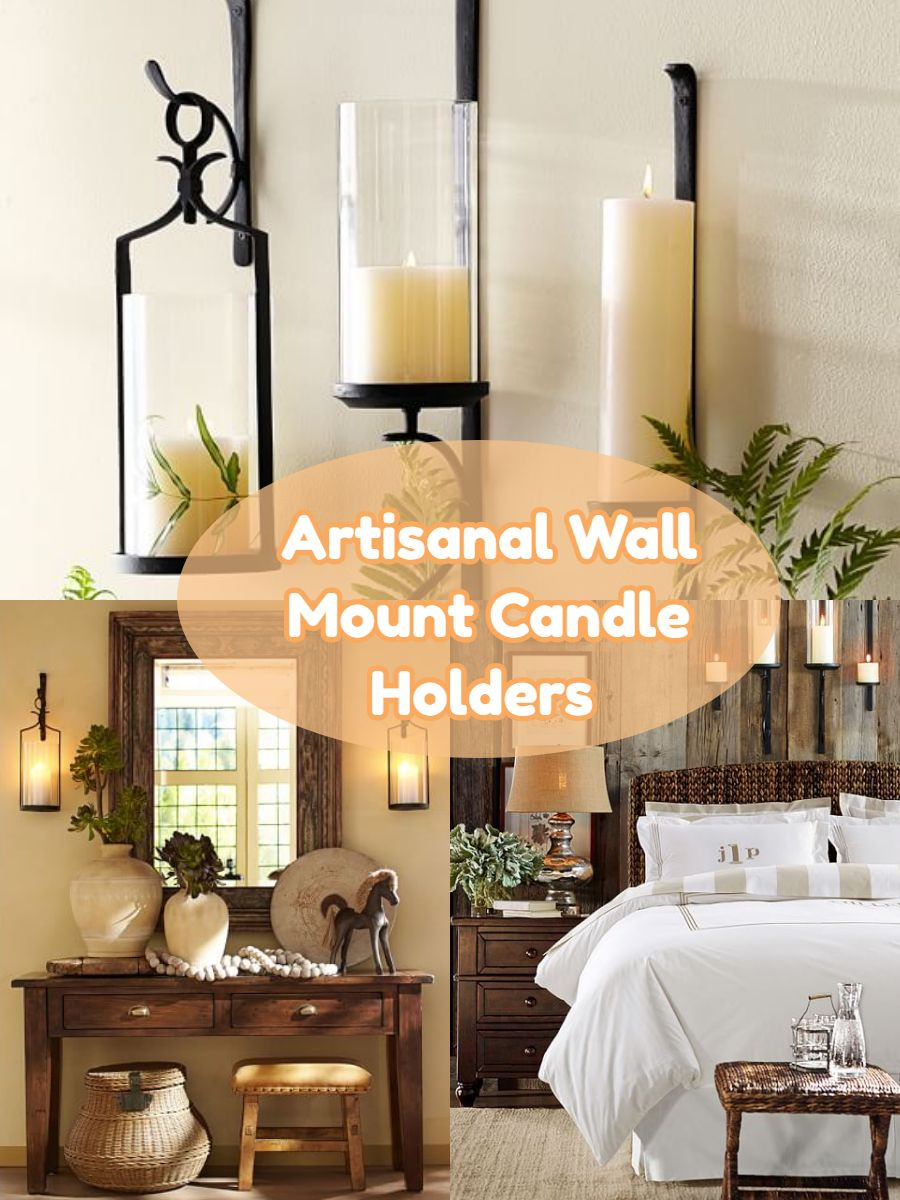 Artisanal Wall Mount Candle Holders let you add rustic style to a ...