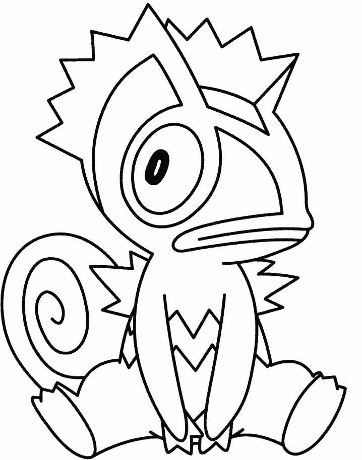 Pokemon Kecleon Coloring Pages Drawing
