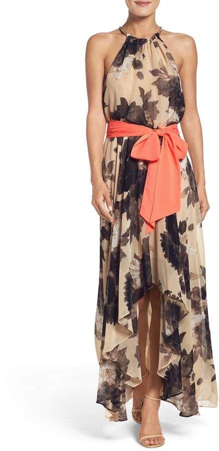 e32c8efaf85 Eliza J Floral Print Chiffon Maxi Dress