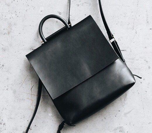 4a8296265669c Leder Rucksack Frauen schwarz Leder-Laptop-Tasche von ViewInRain ...