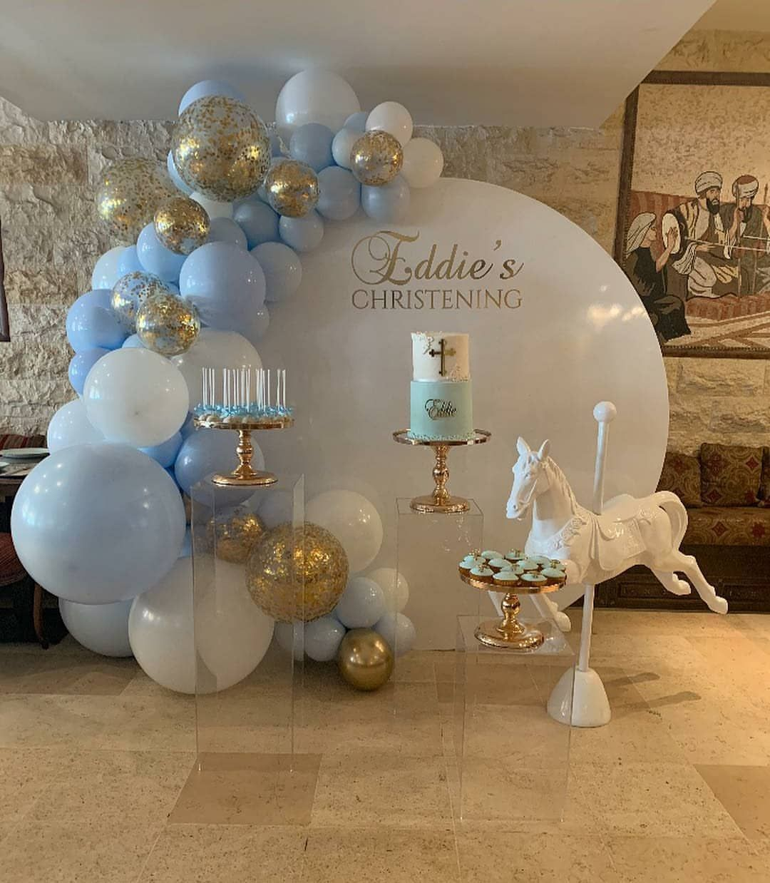 Blue White And Gold Party Decorations  from i.pinimg.com