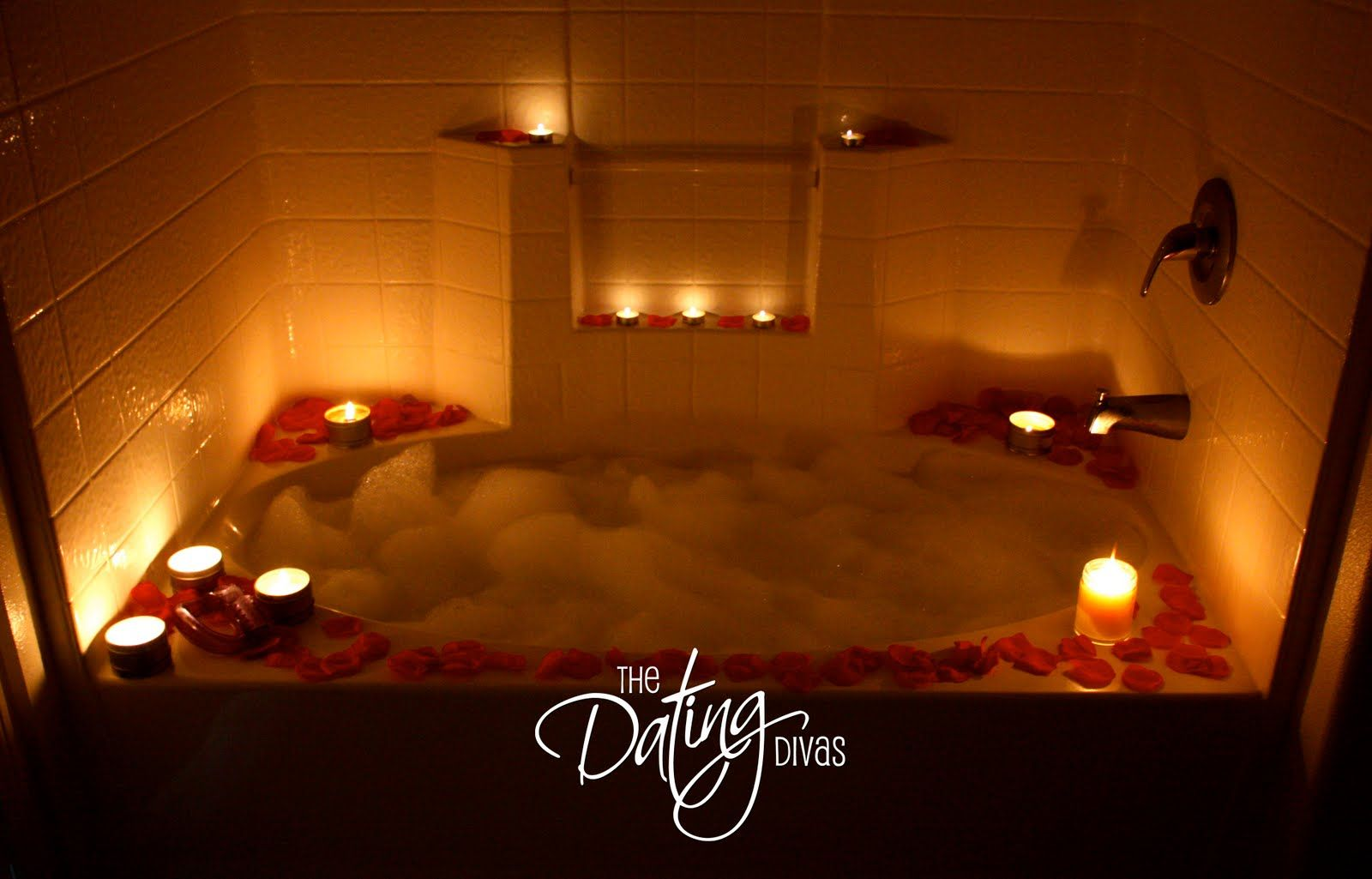 Set the mood with rose petals for romance with your spouse bubble baths bath and romantic Romantic bathroom design ideas