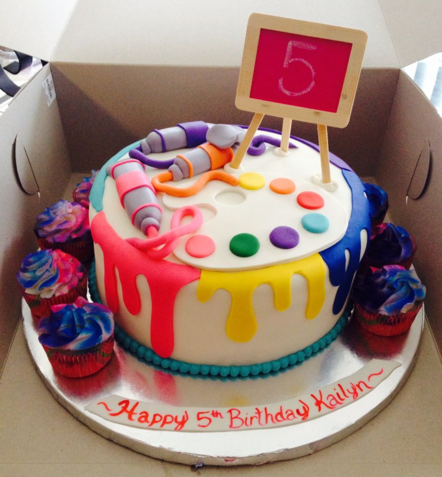 Amazing Cakes: Painting Birthday Cake For 5 Year Old, Fun Cake