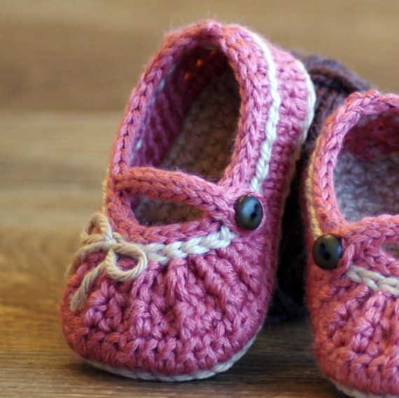 Crochet Pattern # 210 Too Cute Mary Janes with easy gathering - 2 ...