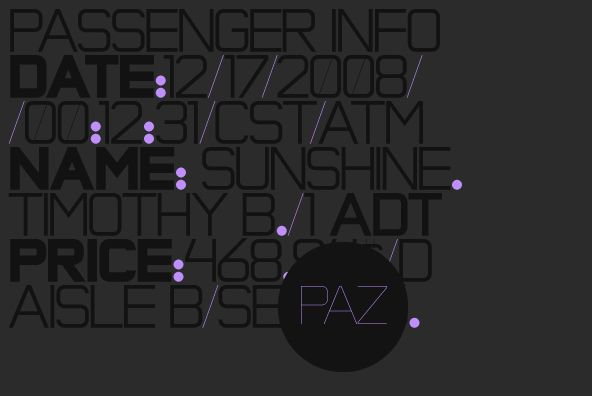 Paz by Sudtipos - Desktop Font, WebFont and Mobile Font available at YouWorkForThem.