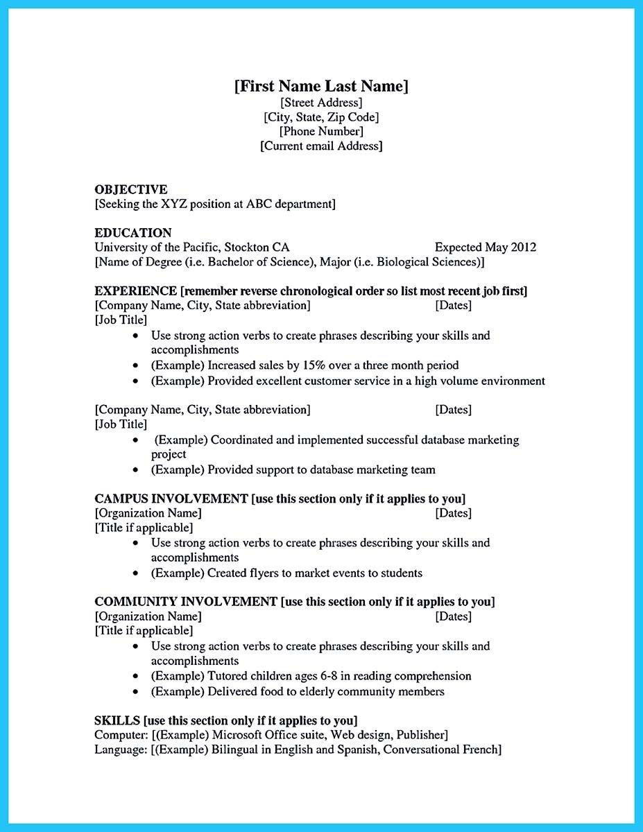 20 Best Job Resume Examples First job resume, Job resume