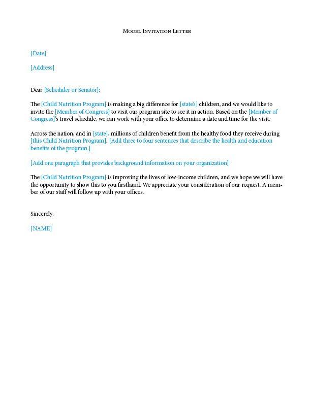 Hereu0027s a model invitation letter for a site visit FRAC 101 - invitation letters