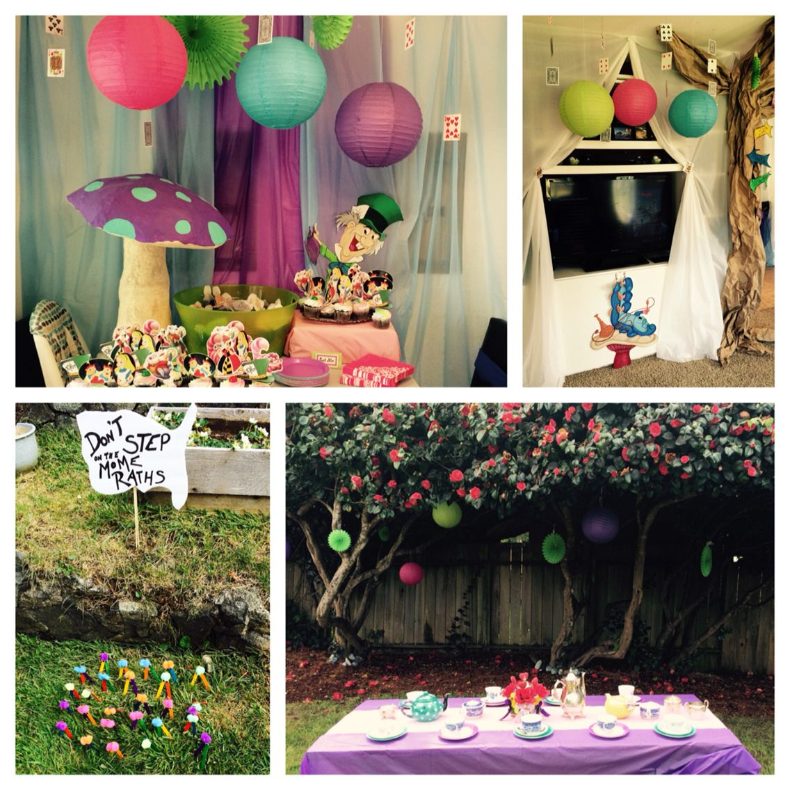 Alice In Wonderland Themed Birthday Party For My 10 Year Old Daughter These Are Favorite Aspects Of The