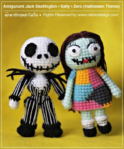 Amigurumi Jack Skellington, Sally for inspiration