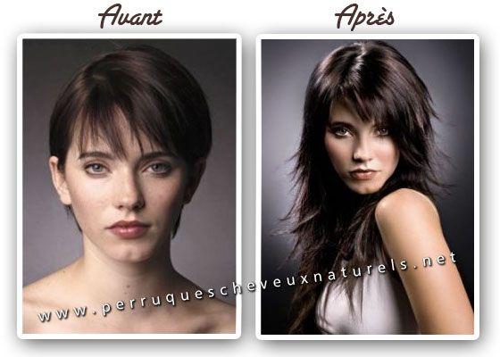 Turbo Les extensions de cheveux: avant et après | Coiffure | Pinterest  NM45