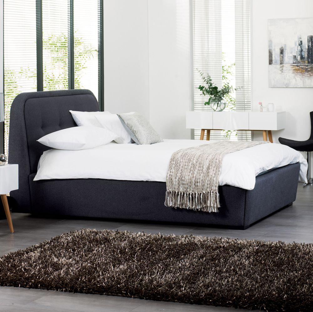 Morrison Felt Solid Wood Frame Ottoman Storage Bed Double Grey Dwell Ottoman Storage Bed Storage Bed King Storage Bed