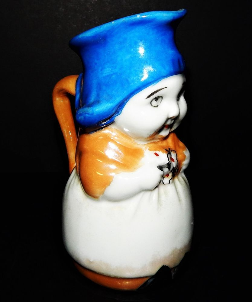 Dutch Girl Toby Jug Lustre Ware Hand Painted Stamped Gold