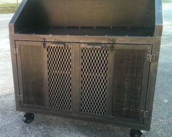 La Credenza Gas : Weathered industrial credenza cabinet u style