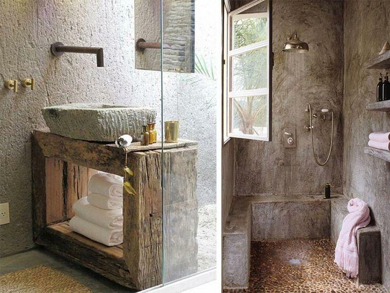Lavabos r sticos ideas para cada tipo de ba o lavabos for Imagenes de banos rusticos